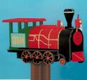 Locomotive Mailbox Woodcraft Pattern