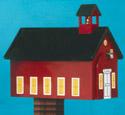 Red School House Mailbox Woodcraft Pattern