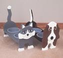 Cat & Dog Dish Holders Wood Plans