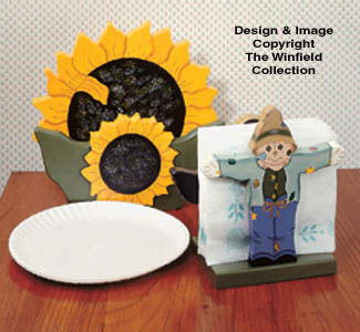 Sunflower Paper Plate/Napkin Holder & Country Decor - Sunflower Paper Plate/Napkin Holder