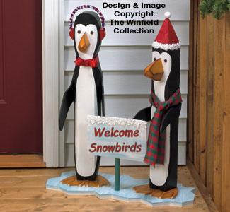 Pole Penguins Woodcrafting Pattern