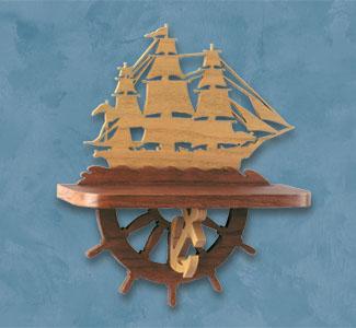 Shelves - Sailing Ship Shelf Scroll Saw Pattern