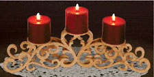 Scrolled Tabletop Candleabra Pattern
