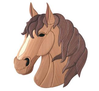 Scroll Saw Intarsia Horse Intarsia Pattern