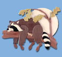 Lazy Raccoon Intarsia Pattern