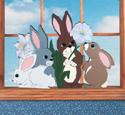 Rabbit Window Screen Pattern
