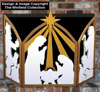Christmas Fireplace Screen.All Christmas Nativity Fireplace Screen Woodcraft Pattern