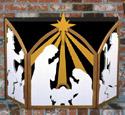 Nativity Fireplace Screen Woodcraft Pattern