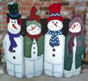 Folding Snowmen Woodcraft Pattern