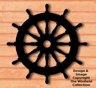 Ships Wheel Shadow Woodcrafting Pattern