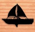 Sailboat Shadow Woodcrafting Pattern