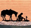 Cowboy Prayer Shadow Wood Pattern