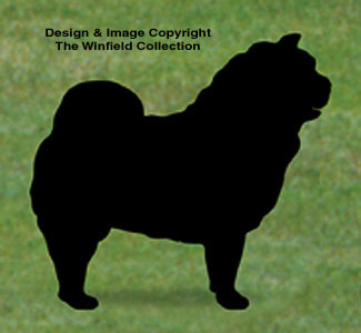 Chow Chow Shadow Woodcrafting Pattern