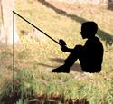 Fishing Kid Shadow Woodcrafting Pattern