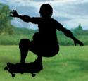 Skateboarder Shadow Woodcrafting Pattern