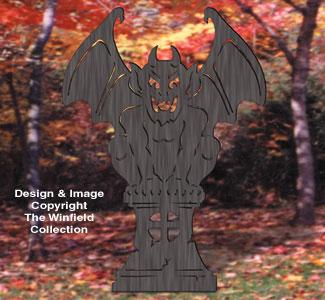 Gargoyle Shadow Woodcrafting Pattern