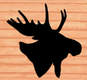 Giant Moose Head Shadow Woodcraft Pattern