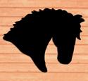 Giant Horse Head Shadow Woodcraft Pattern