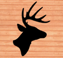 Giant Deer Head Shadow Woodcraft Pattern