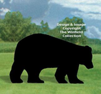 Black Bear Shadow Woodcrafting Pattern