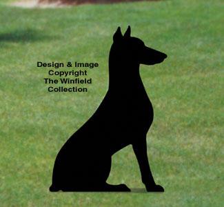 Sitting Dog Shadow Woodcraft Pattern