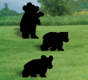 Bear Cubs Shadow Woodcrafting Pattern