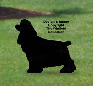 Cocker Spaniel Shadow Woodcraft Pattern