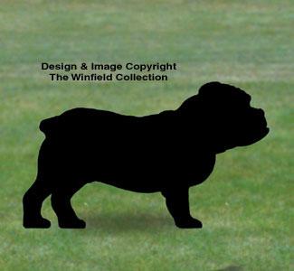 Bulldog Shadow Woodcrafting Pattern
