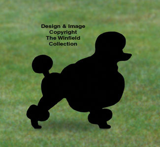 Poodle Shadow Woodcrafting Pattern