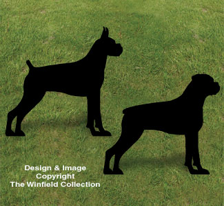 Boxer Shadow Woodcrafting Pattern