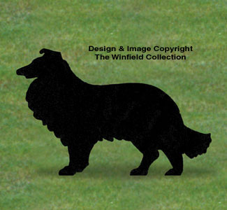 Collie Shadow Woodcrafting Pattern