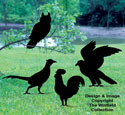 Four Birds Shadow Woodcraft Pattern
