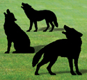 Life-Size Wolf Shadows Wood Pattern