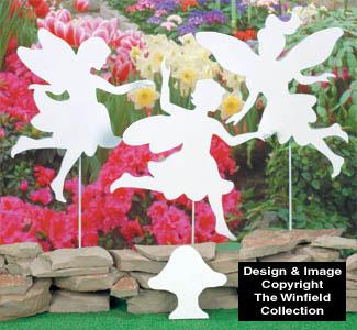 Playful Fairies Shadow Wood Pattern
