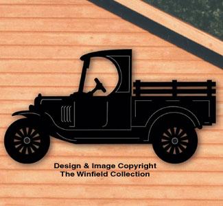 Model-T Truck Shadow Woodcraft Pattern