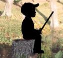 Fishin' Boy Shadow Woodcraft Pattern