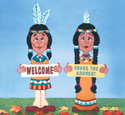 Indian Greeters Woodcraft Pattern