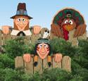 Thanksgiving Fence Peekers Wood Pattern