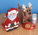 Santa & Reindeer Treat Jars Pattern