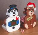 Snowman & Bear Treat Jars Pattern