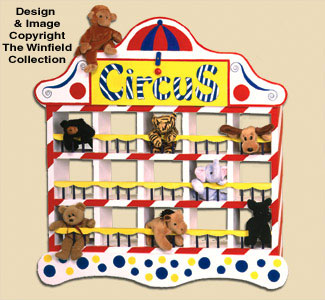 Bean Bag Animal Circus Woodcraft Pattern