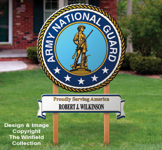National Guard Yard Sign Woodcrafting Pattern