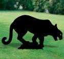 Mountain Lion Shadow Woodcraft Pattern