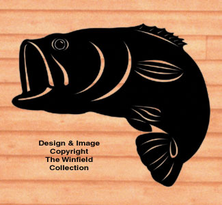 Giant Bass Shadow Woodcraft Pattern