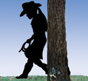Cowgirl Kid Shadow Woodcraft Pattern