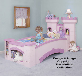 Castle Bed Woodworking Pattern