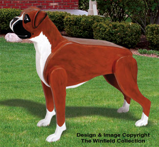 Layered Dogs 3d Life Size Boxer Woodcraft Project Plan