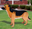 3D Life-Size German Shepherd Wood Plan