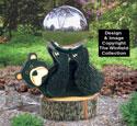 Bear Gazing Ball Holder Wood Project