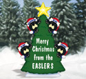 Personalized Christmas Tree Wood Pattern